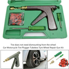 Car Motorcycle Tire Plugger Tubeless Tyre Wheel Repair Gun+Rubber Plug Accessory