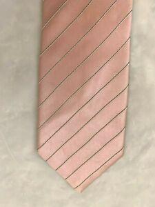 """Donald Trump Signature Collection Necktie 3.5X56"""" Silk Pink Stripe Tie"""