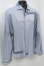 English Laundry Christopher Wicks hand sewn button emboider shirt french cuff XL