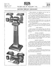 Delta Rockwell Motor Driven Grinders Instructions