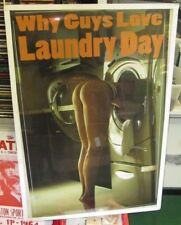 LAUNDRY DAY POSTER PLAYBOY MODEL HOT NUDE RARE 2017 WHY GUYS LOVE LAUNDRY DAY