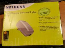 NEW SEALED NETGEAR XE102 WALL PLUGGED ETHERNET BRIDGE PS2 XBOX plus bonus unit