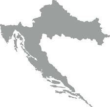 Kroatien Länder Umriss Aufkleber Auto Beschriftung Schriftzug 10x10cm Farbausw.