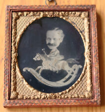 AMBROTYPE DAGUERREOTYPE EXTREMELY RARE COMIC - HUMOROUS - FUNNY - CARTOON TINTED
