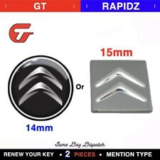 2x 14MM Car Key Sticker Compatible With  Cirtoen Fob Emblem Badge Radio Button
