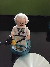 LEGO RITORNO AL FUTURO minifigura-Doc Brown con le dimensioni del disco