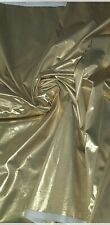 """1m gold foil lame disco party dress  FABRIC 45"""" WIDE decorating"""