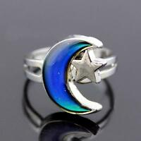 Adjustable Magic Temperature Control Mood Color Changing Ring
