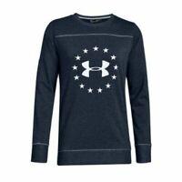 Under Armour Freedom Microthread Womens XL Blue Long Sleeve T-Shirt - NWT