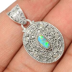 Filigree - Australian Opal 925 Sterling Silver Pendant Jewelry BP96098