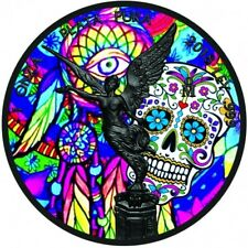 """Mexico 1 oz Libertad """" Day Of The Dead """" Silver Ruthenium Plated Colorized Coin"""