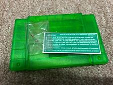 BRAND NEW SNES REPLACEMENT CARTRIDGE SHELL GREEN SUPER NINTENDO + BACKER LABEL