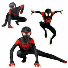 Spider-Man: Into the Spider-Verse Miles Morales Kids Cosplay Costume Zentai Suit
