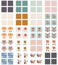 Ambesonne Fox Animal Coaster Set of 4 Square Hardboard Gloss Coasters
