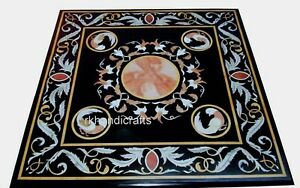 Marble Inlay Coffee Table Top with Peitra Dura Art Kitchen Table Size 24 Inches