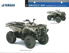 ATV Data Sheet - Yamaha - Grizzly 660 Automatic 4x4 Hunting Edition 2005 (V76)
