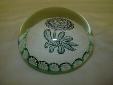 vintage Murano MAZZEGA Glass Paperweight Millefiori and Flower Pattern