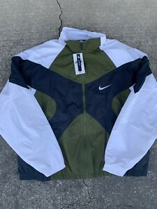 NWT Nike Archive 1996 Windbreaker Woven Jacket BV5210-331 Green White $140