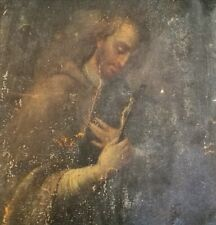 Quadro antico olio su tela 600 / 700 dipinto in prima patina mai restaurato