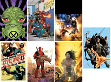 "LOT OF 7 ROLLED MARVEL 24 X 36"" POSTERS! DEADPOOL! AVENGERS! $63 VALUE!"