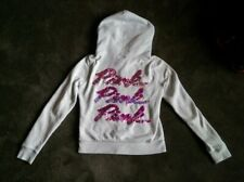 PINK Victoria's Secret GRAY ZIP UP SWEAT SHIRT Womens Medium