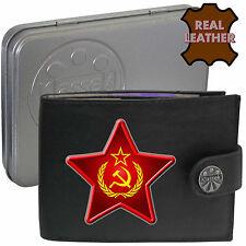 Klassek Hammer Sickle Star Wreath Leather Wallet USSR Russia Socialist communist