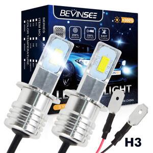 H3 Foglights For Chevy C1500 C2500 C3500 1988-1991 1993-1998 LED Fog Light Bulbs