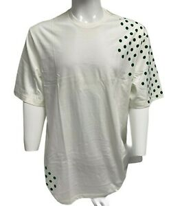 Vintage Nike Men's White T-shirt with Green Dots short sleeve XXL