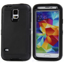 For Samsung Galaxy S5 Shockproof Armor Hybrid Hard Rugged Rubber Cover Case