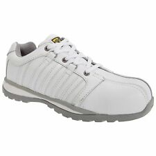 Grafters Composite Non Metal Safety Toe Shoe Boots Unisex White Trainers Size 8