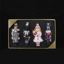 "Kurt Adler Noble Gems Glass Nutcracker Suite Ornament 4.25"" Set of 4"