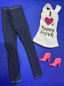 Dolls Clothes Full Outfit - Top & Trousers With Shoes Bundle New With Gift Bag