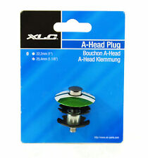 "XLC BICYCLE STEM TOP CAP, STAR NUT AND BOLT, GREEN, 1-1/8"", 25.4mm"