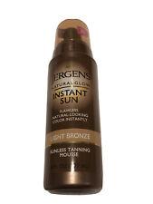 Jergens Natural Glow Sunless Tanning Mousse Instant Sun Light Bronze 6 Oz