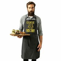 Exercise Bacon Funny Joke Meat BBQ Barbecue Grill Kitchen Cooking PREMIER APRON