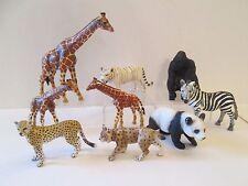 9 pc lot Schleich Zoo Safari Jungle figures Animals Giraffes Zebra Tiger Gorilla