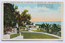 Old postcard A NOOK OVERLOOKING TAMPA BAY IN NORTH SHORE, ST. PETERSBURG FLORIDA
