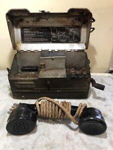 WW2 Era British Military Field Telephone (Phone) Set L