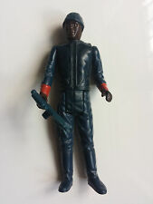 BESPIN SECURITY GUARD (BLACK) - STAR WARS VINTAGE ACTION FIGURE + WEAPON / 1981