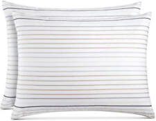 Charter Club Twin Duvet and Sham - 100% Cotton - White with Stripes