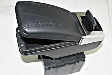 BLACK PADDED ECO LEATHER ARMREST CENTER SPECIFIC fit FORD FOCUS MK2 2005-2011NEW