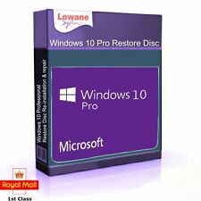 Windows 10 Professional 64 Bit Re-Install Restore Repair Boot Disc Recovery DVD