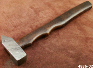 BEAUTIFUL 30CM CUSTOM HAND FORGED DAMASCUS STEEL HAMMER (4836-2