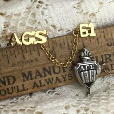 2 Vintage Alpha Gamma Sigma AGS Honor Society Pins California Community College