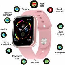 Resistente al agua Bluetooth Reloj inteligente de parámetros para iPhone Samsung Hombres Mujeres Niños