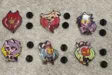 More details for hazbin hotel/helluva boss chibi pin set - includes 6 pins (read description)