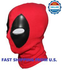 ❶2018 Deadpool Mask Leather Balaclava X-Men Halloween Costume Hood Cosplay❶