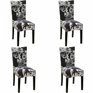 4Pcs Stretch Dining Chair Covers Slipcover Spandex Wedding Cover Removable AU