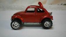 2006 Hot Wheels Orange Baja Bug Volkswagen Beetle Custom Real Riders