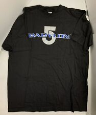 Babylon 5 Blue & Silver Logo Xl Black T Shirt 1994 Collectible Sci-Fi